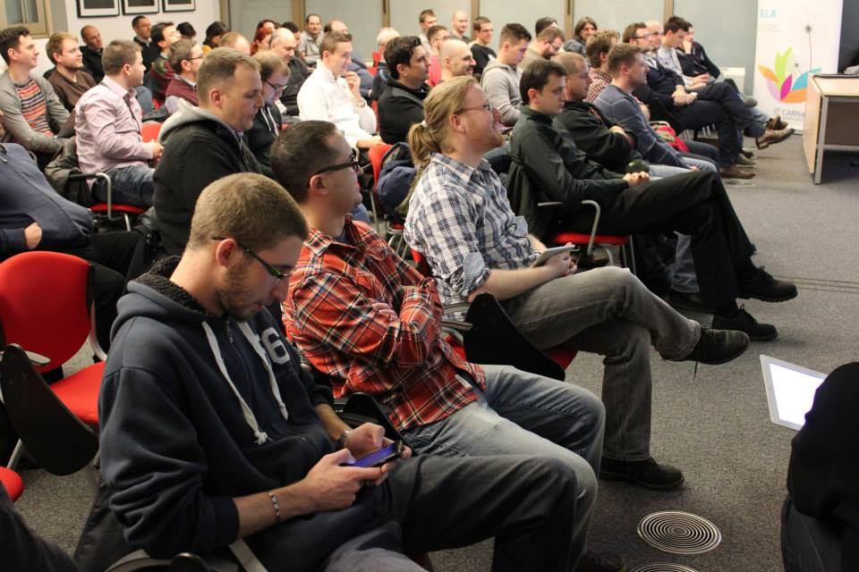 Around 70 people gathered to hear talks at 1. WordPress Meetup Zagreb (Photo by: Tomislav Negulić)