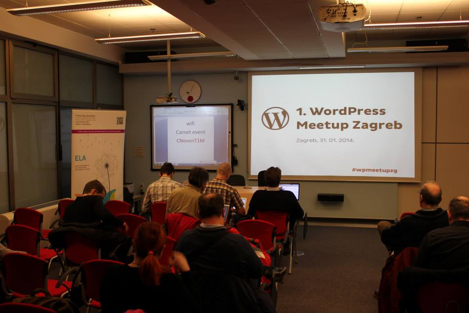 Meetup took place at the big CARNet hall that can accommodate around 100 people. Around 70 people came to the first WordPress Meetup Zagreb (Photo by: Tomislav Negulić)