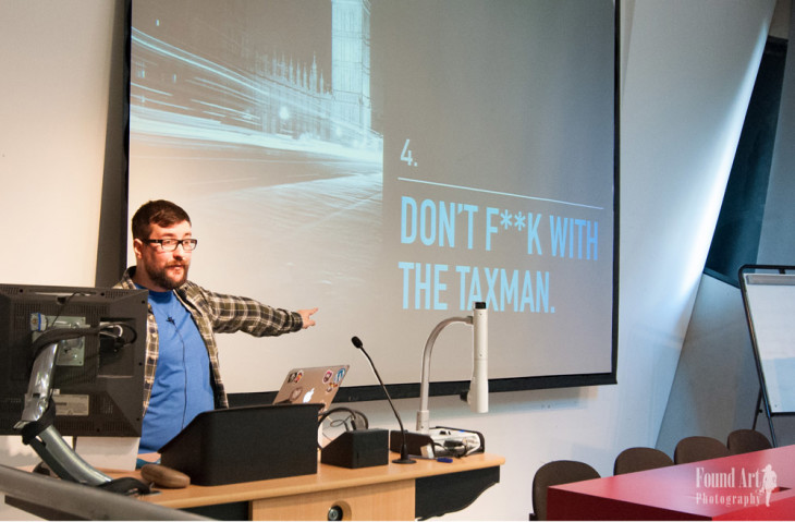 Memorable slide from Ben Furfie talk about freelancing (Photo by: Kari Leigh Marucchi)