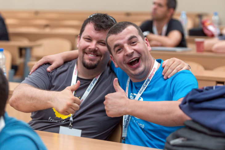 Milan Ivanović and myself continuing tradition of having photos on each WordCamp Belgrade so far ;) (Photo by: Ivan Gatić)