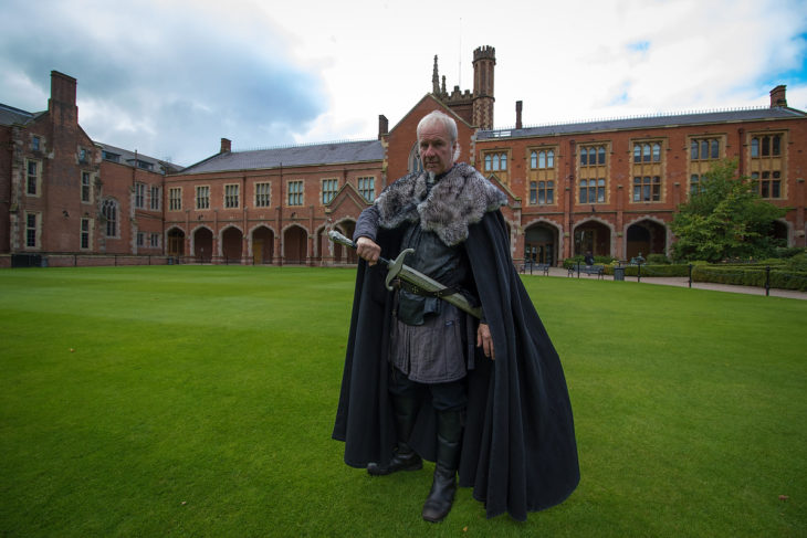 Someone to protect us at WordCamp Belfast – Game of Thrones tour guide. (Photo by: Ian Stratton)